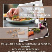 Sácate el Certificado de Manipulador de Alimentos con Nosotros